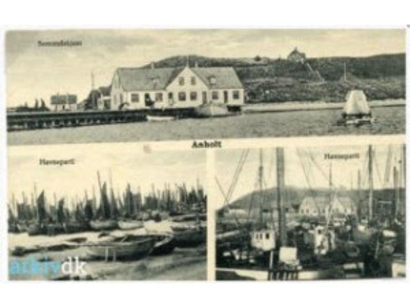 Pakhuset Anholt gammelt arkiv billede